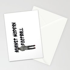 AGAINST MODERN FOOTBALL Stationery Cards