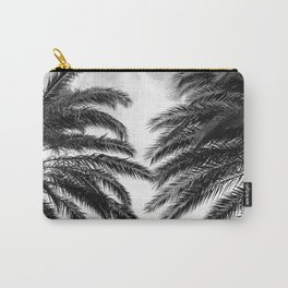 Black & White Tropical Palm Trees Caressed By Clouds Carry-All Pouch