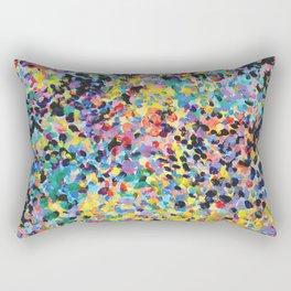 Happy Unicorn Confetti Rectangular Pillow