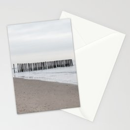 Minimalist Pastel Seashore - Abstract lines and waves Stationery Cards