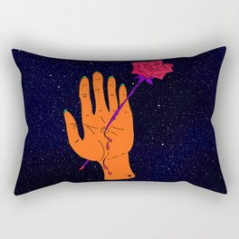 Wounded Hand // Space Rectangular Pillow