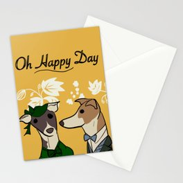Oh happy day Vintage dog yellow Nancy & Paul Stationery Cards