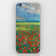 Poppy Field iPhone & iPod Skin