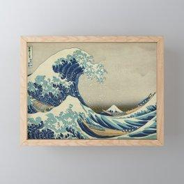 Great Wave Off Kanagawa (Kanagawa oki nami-ura or 神奈川沖浪裏) Framed Mini Art Print