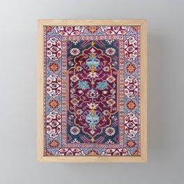 Romanian  Antique  Double Niche Carpet Framed Mini Art Print