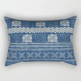 Mud Cloth Geometric Stripe Navy Rectangular Pillow