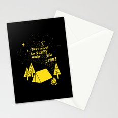 I Just Want To Sleep Under The Stars Stationery Cards