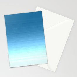 Sea blue Ombre Stationery Cards
