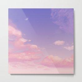 Sky Purple Aesthetic Lofi Metal Print