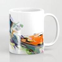 archan nair Mugs featuring Sunburn by Archan Nair