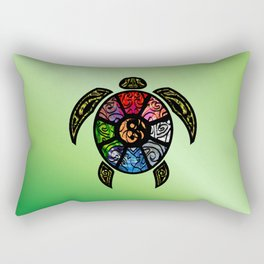 Bagua Turtle Rectangular Pillow