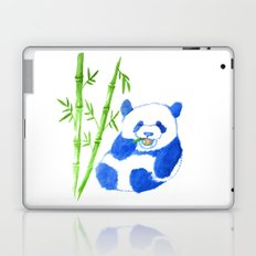 Panda eating bamboo Watercolor Print Laptop & iPad Skin