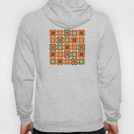 Retro Color Flower Pattern Hoody