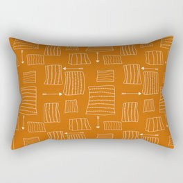 Tribal Arrows and Squares, Primitive Pattern Rectangular Pillow