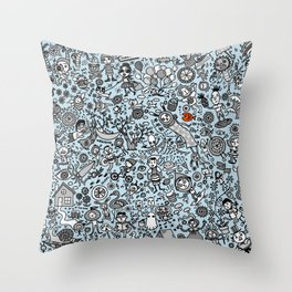 Good time in Baby Blue Throw Pillow