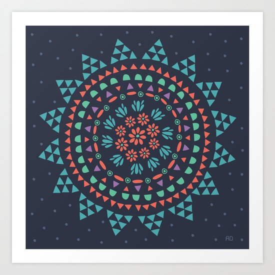 Moon Flower Art Print