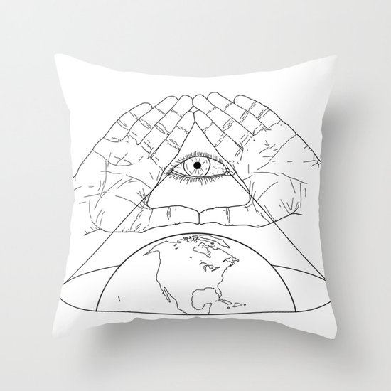 Annuit oeptis Throw Pillow