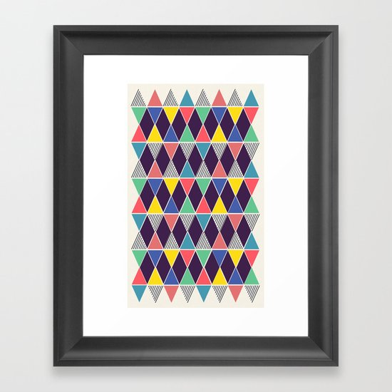 Triangles & Lines Framed Art Print