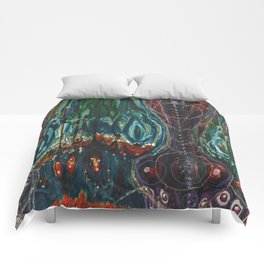 Pulse of Kelp (Sonic Sea Surge) Comforters
