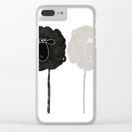 Ying Yang Sheep Clear iPhone Case