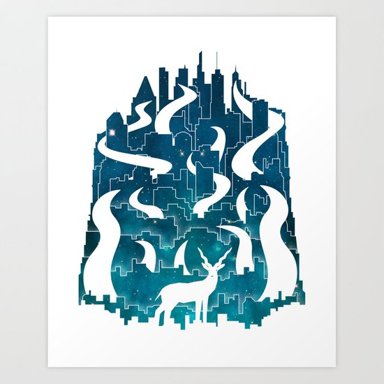 Antelope Aeon Art Print
