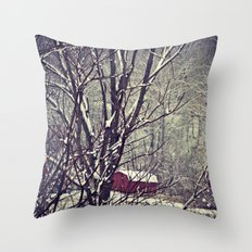 Out Behind The Barn  Throw Pillow
