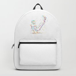 Gymnast Abstract Cool Gymnast Athletic Sports Gift Backpack