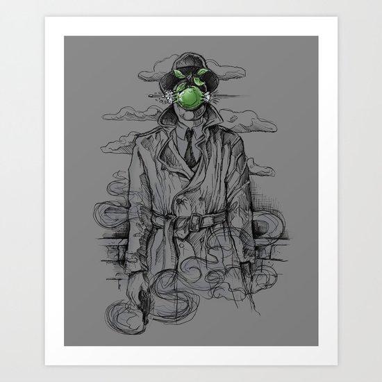 Magritte Noir Art Print
