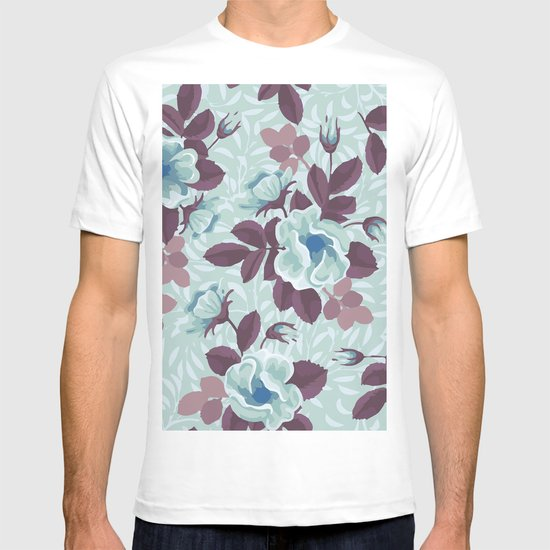 Retro Floral Pattern T-shirt