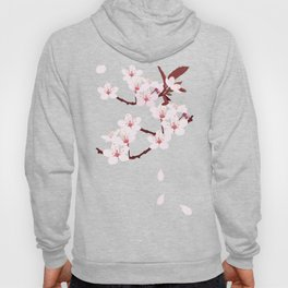 sakura flowers on peach background Hoody