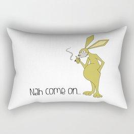conejo fumador Rectangular Pillow