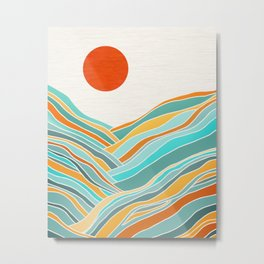 Abstract Sunset Landscape II Metal Print