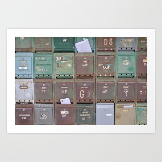 Mailboxes I Art Print