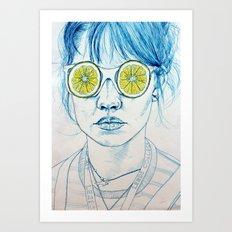 Lemon Lady Art Print