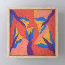 Orange Desert Flowering Abstract Framed Mini Art Print