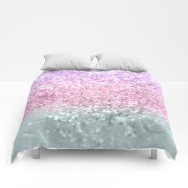 Unicorn Girls Glitter #7a #shiny #pastel #decor #art #society6 Comforters