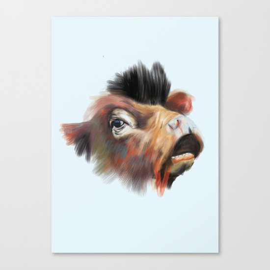 Crazy Cow Canvas Print