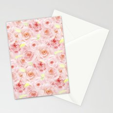 Rose pattern- Beautiful watercolor roses backround Stationery Cards