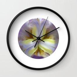 lily bloom macro XVII Wall Clock