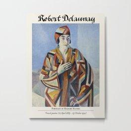 Vintage poster-Robert Delaunay (French, 1885-1941) Portrait of Madame Mandel. Metal Print