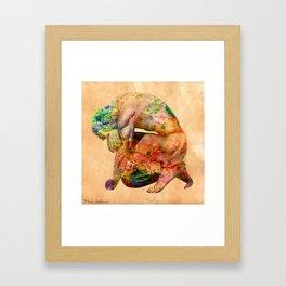 male nude body  Framed Art Print