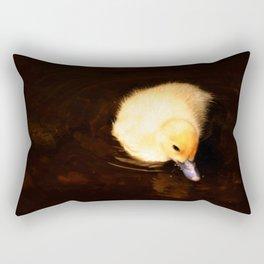 Baby Duckling Swimming Rectangular Pillow
