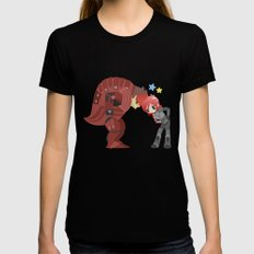 Mass Effect - Wrex and Shepard Womens Fitted Tee Black LARGE