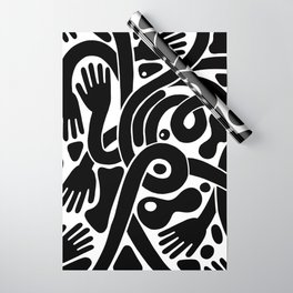 Handsy black & white Wrapping Paper