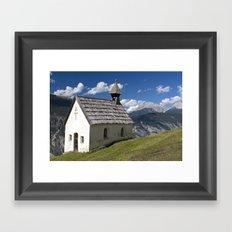 Mountain Chapel - Tirol Framed Art Print