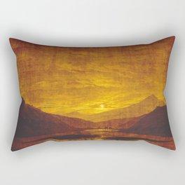 Caspar David Friedrich / Mountainous River Landscape Rectangular Pillow