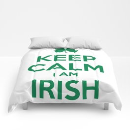 KEEP CALM I AM IRISH Comforters