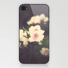Pink Flowers on Vintage Purple Background  iPhone & iPod Skin