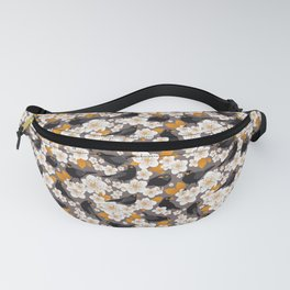 Waiting for the cherries II // Blackbirds brown background Fanny Pack