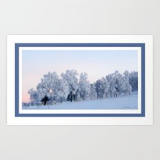A cold day in Paradise Art Print